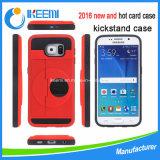 Cas neuf de téléphone mobile de détenteur de carte de 2016 Kickstand