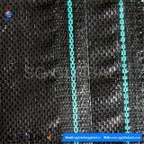Frontière de sécurité noire de vase tissée par pp avec la salbande