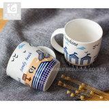 Владением руки 12oz Китая чашка молока первоначально керамическая