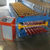 Azulejo de azotea doble acanalado del metal del trazador de líneas que hace la máquina