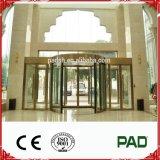 Königliche automatische GlasDrehtür mit Goldfarbe für grosses System oder Handelsgebäude