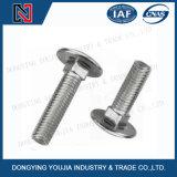 Parafusos de pescoço quadrado de cogumelo de aço inoxidável DIN603