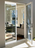 Rupture thermique personnalisé porte en verre à battants en aluminium avec prix Ex-Factory (ACD-030)