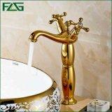 Flg Goldfarbanstrich-Behälter-Badezimmer-Bad-Bassin-Wasser-Mischer