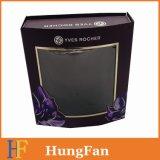 Cuidado de la piel de envases cosméticos caja de papel con ventana de PVC