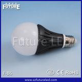 Заливки формы будущего F-B6 E27 E14 B22 CE свет шарика пластмассы СИД Approved алюминиевый