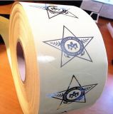 Etiquetas engomadas/escritura de la etiqueta de marca de fábrica de papel de la etiqueta engomada del Libro Blanco para el alimento