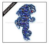 カスタム特別な形の刺繍パッチ/涼しいトラパッチ(BYH-1003)