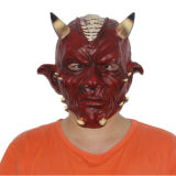 Het x-vrolijke Masker van het Latex van de Partij van de Verschrikking van de Duivel van het Masker van Halloween van het Stuk speelgoed Luxe Rode Volledige Hoofd