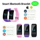 Pulsera Bluetooth del ritmo cardíaco inteligente con la llave del tacto (D21)