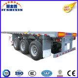 3개의 차축 Widly에 의하여 사용되는 평상형 트레일러 40FT 콘테이너 트럭 포좌 트레일러