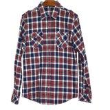 人のフランネルの格子縞の長い袖のワイシャツ(XDL15013)