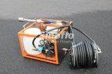 5.5HP портативные бензиновые двигатели водяного тумана тушения пожара насос устанавливается с помощью колеса