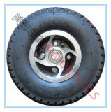 [10إكس3.50-4] عجلة هوائيّة مطّاطة مع ألومنيوم حافّة لأنّ المعبئ