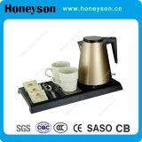 Чайник самой популярной конструкции электрический с радушным подносом для гостиницы