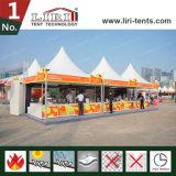 Gazebo exterior tenda 6x6m 5x5m Pagoda Marquee com PVC impermeável