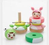 Brinquedos de madeira DIY da boneca para miúdos