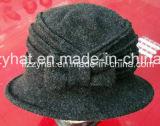 Chapéu feito malha forma de lãs do chapéu do inverno com curva