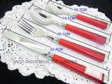 vaisselle plate réglée de polonais de dégringolade du traitement 16PC/24PC de couverts en plastique de couverts