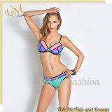 Fabrik-niedriger Preis-heißer reizvoller Mädchen-Bikini mit zwei Stücken Badeanzug-