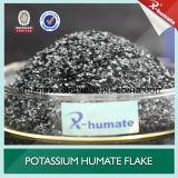 Flocon brillant de Humate de potassium superbe de 98%