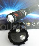 Cctv-batteriebetriebene Sicherheitsbeamte-Polizei-Karosserien-Kamera mit Taschenlampe