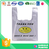 حقيبة قميص مخصص مطبوعة التسوق البلاستيكية T