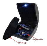 LED 가벼운 작은 플라스틱 반지 포장 상자