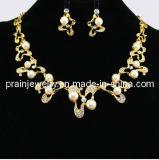 La moda Peral de aleación de Piedra de Cristal Collar Set /Set de joyas chapado en oro y diamante CZ 2013 Promoción (PN-122)