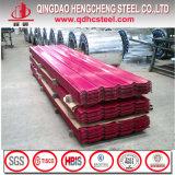 Chapa de aço galvanizada corrugada cor
