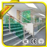 Vidro Tempered dos trilhos da escada do espaço livre do fornecedor de China com certificado do Ce