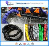 Protetor da mangueira dos PP do PE que faz a máquina/linha de produção espiral da câmara de ar da bainha/maquinaria espiral da câmara de ar da bainha