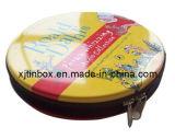 Bonita Caixa de estanho Zipper promocional para CD (XJ-039Y)