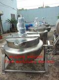 Chaleira Jacketed inoxidável do aquecimento de vapor do aço (50~600L que cozinha a chaleira)