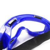 E Splash-Proof Anti-choque óculos de segurança azul
