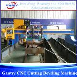 Máquina que bisela del corte del plasma del CNC del pórtico para el metal