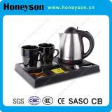 Поднос чайника самого лучшего качества электрический установил для изготовления гостиницы