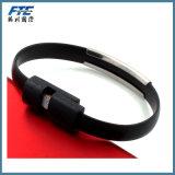 Кабель USB оптового браслета USB силикона микро-