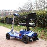 Goedkope Vier Wielen die de Mini Elektrische Gehandicapte Autoped van de Mobiliteit vouwen