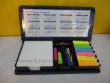 Пользовательское управление печати подарок блокнота, липких панели набора перьев