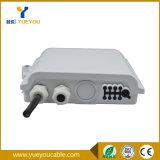 Rectángulo de fibra óptica portuario del divisor de /FTTH del rectángulo del fin IP65 8 al aire libre