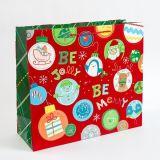 ハンドルが付いている習慣によって印刷されるギフトの包装のクリスマスの紙袋