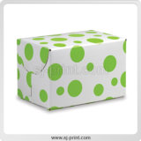 Présentation attrayante case de couleur en carton de pliage