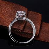 선물을%s 명확한 백색 입방 지르코니아 형식 반지를 놓는 최신 판매 4 견인삭