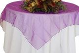 Mantel brillante cubierto vector brillante cristalino barato del organdí del Organza de la boda