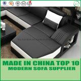 Софа самомоднейших домашних изготовлений Китая мебели итальянская кожаный угловойая