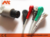 Cable de una sola pieza de Goldway Ut4000/Ut4000A ECG