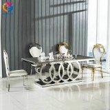 流行のステンレス鋼のガラス上の結婚式表Hly-St10