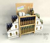 オフセット印刷のボール紙のワインの陳列台、ワインの陳列だな、ワインの表示