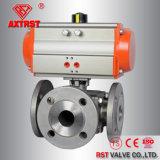Рб / Fb пневматического управления сс фланцевый трех ходовой шаровой клапан
